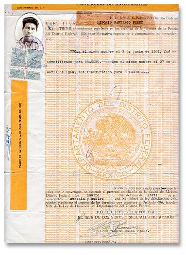 Liborio Certificado Stamps